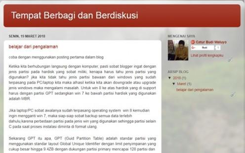 10 Langkah mudah membuat blog dengan bantuan blogspot.com