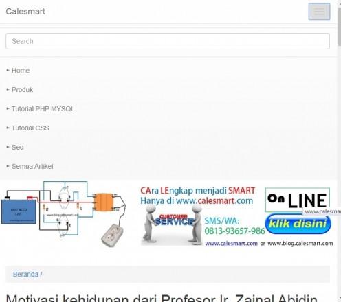 Source Code Blog calesmart.com  berbasis PHP MySQLi yang dinamis dan responsive